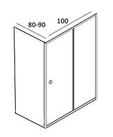 Душові кабіни прямокутні Santeh 100х80, 100х90