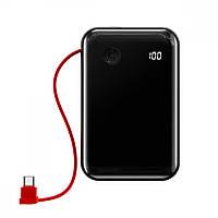 Портативная Батарея Baseus Mini S Digital Display 3A 10000mAh (With Type-C Cable) Black