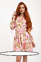 Цветочное платье в романтическом стиле. Размеры: 44, 46, 48, 50  Выполнено из мягкого супер-софта. Треугольный