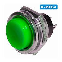 Кнопка DS-212 без фиксации OFF-(ON), зеленая