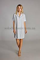 Жіноча сорочка ELLEN Голуба смужка 311/001