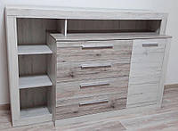 Комод 1Д4Ш Ким Дуб кари белый + Сан-рено Мебель Сервис (160.6х45.2х107.5 см)