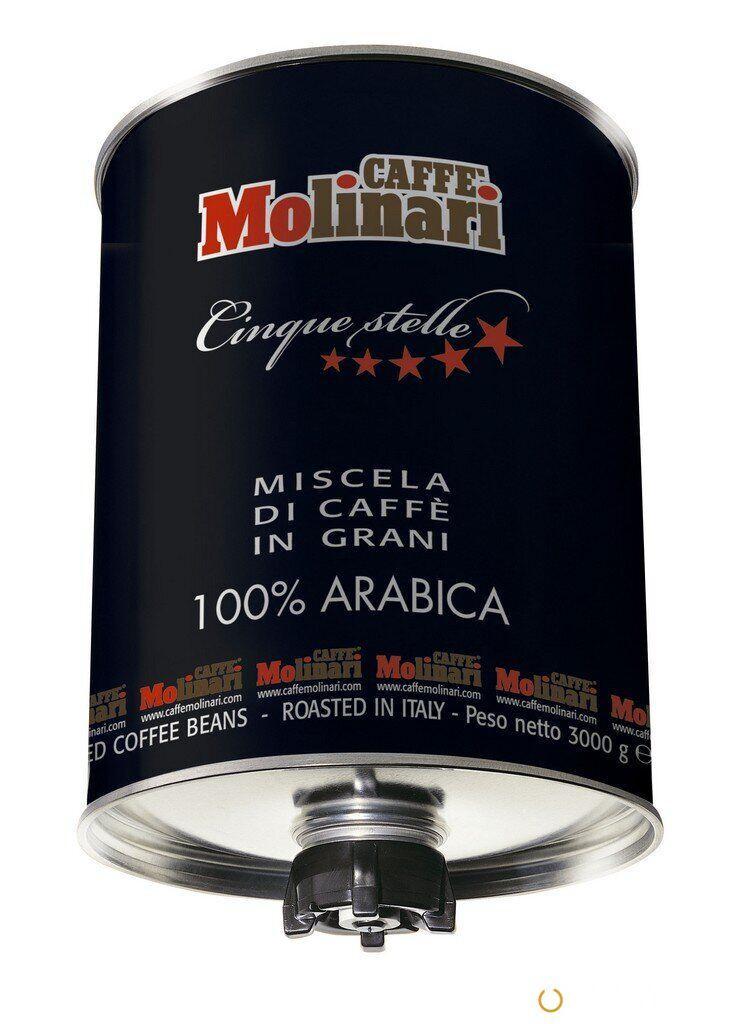 Кофе в зернах Caffe Molinari Five stars 100% Arabica 3 кг