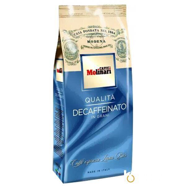 Кофе в зернах Caffe Molinari Decaffeinato (без кофеина) 500 г