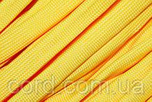 Шнур плоский чехол 15мм (100м) желтый