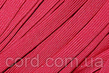 Шнур плоский чехол 15мм (100м) красный