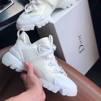 Женские кроссовки в стиле Christian Dior D-Connect белые, фото 2