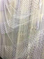 Тюль с вышивкой и широкими пустыми полями, фото 1