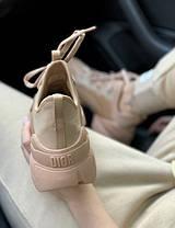 Женские кроссовки в стиле Christian Dior D-Connect бежевые, фото 3