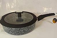 Сковорода глубокая с крышкой Edenberg EB-3324 26 см, фото 1