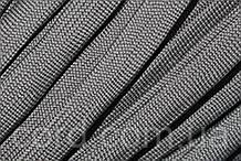 Шнур плоский чехол 15мм (100м) темно серый