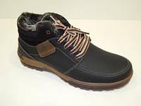 Зимние мужские ботинки черные