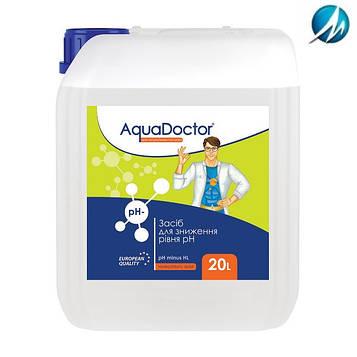 Жидкое средство для снижения pH AquaDoctor pH Minus HL (Соляная 14%), 20 л