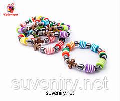 Красивый детский браслет на руку с крестиком