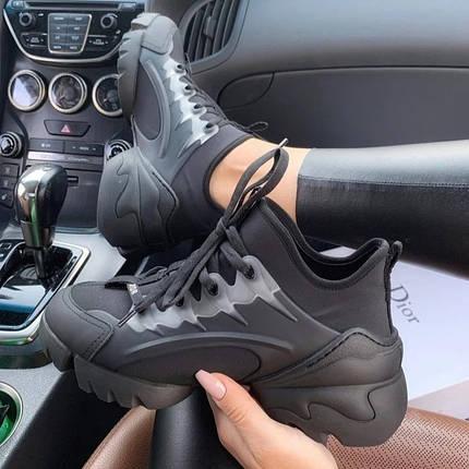 Женские кроссовки в стиле Christian Dior D-Connect черные, фото 2
