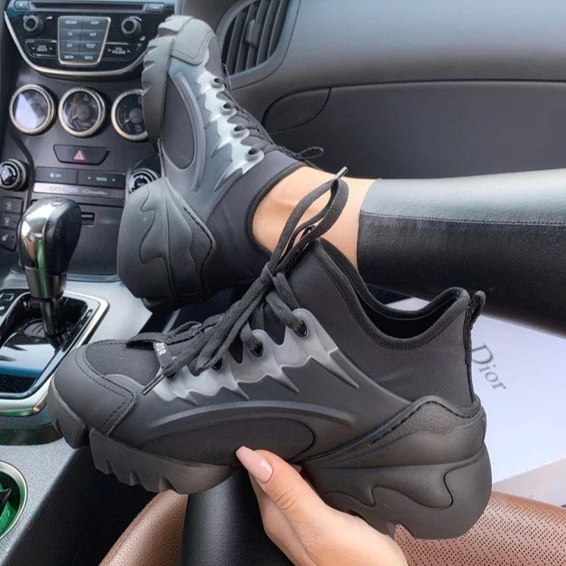 Женские кроссовки в стиле Christian Dior D-Connect черные