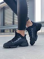 Женские кроссовки в стиле Christian Dior D-Connect черные, фото 3