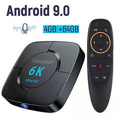 Смарт ТВ медиа приставка Transpeed 6K 4/64GB Smart TV Box Allwinner H6 Android 9.0 Смарт ТВ бокс
