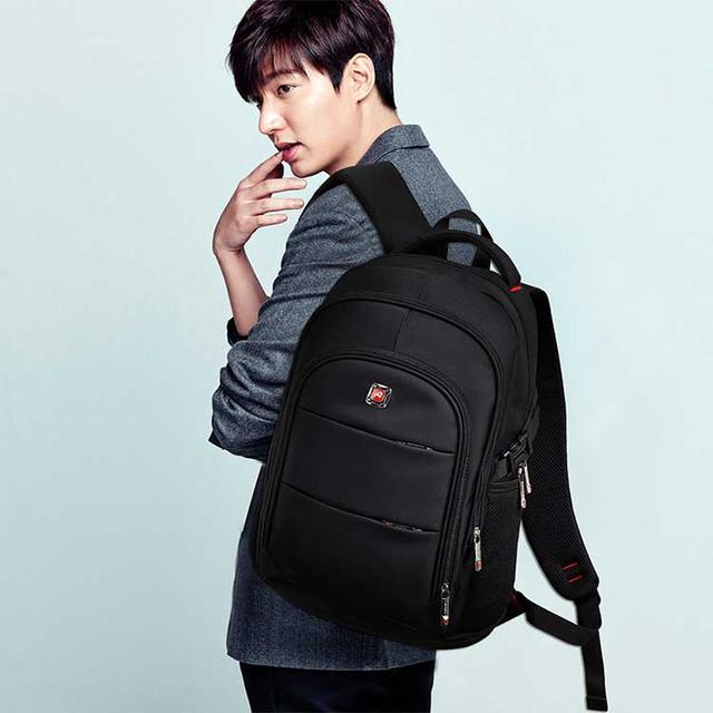 Рюкзак з USB та відділом для ноутбуку augur чорного кольору