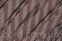 Шнур плоский чехол 15мм (100м) коричневый с белым