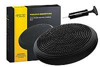 Балансировочная подушка, сенсомоторная массажная 4FIZJO 4FJ0051 Black SKL41-227821