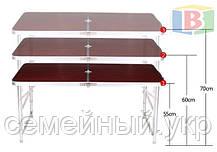 Туристический стол складной + стулья 120х60х70 см. Вес: 7.1 кг. Удобен для переноски. DT-4251, фото 2
