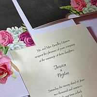 Пригласительные на свадьбу цветочные, фото 4