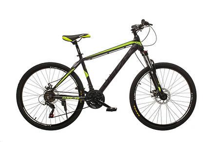 """Велосипед гірський Oskar 26"""" M124 Алюміній Чорно-голубий з амортизацією Хардтейл гірський Велосипед MTB чорний, фото 2"""