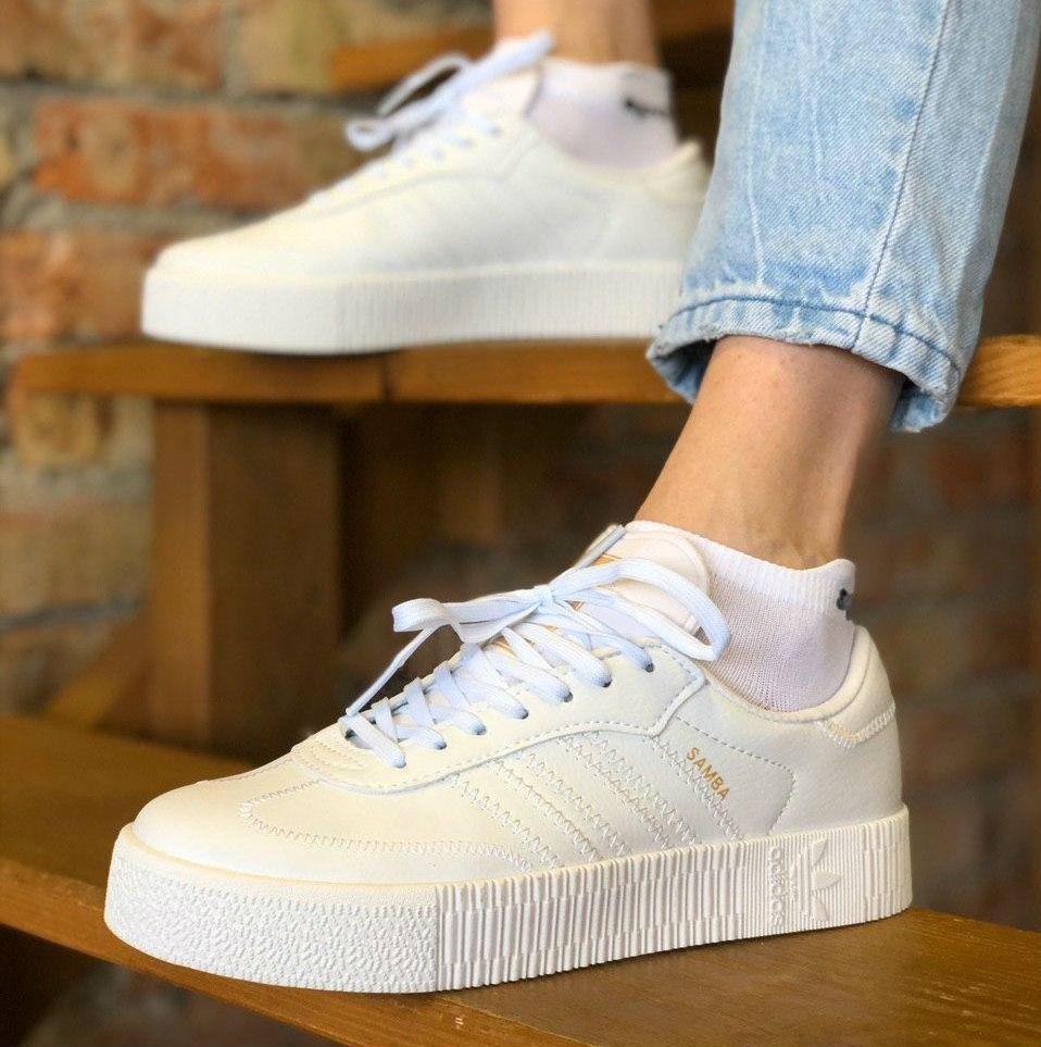 adidas samba white platform
