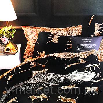 """""""Леопард"""" постельное белье 3D эффект полуторный размер, 160/220"""