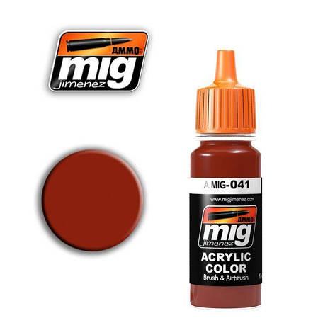Темная ржавчина. Краска для моделей 17 мл. AMMO MIG A. MIG-041, фото 2