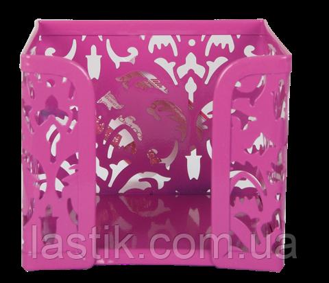 Бокс для бумаг, BAROCCO, металлический, розовый, фото 2