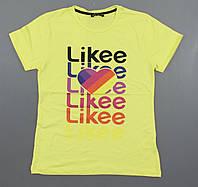 Футболка Likee для девочек, 140-164 рр. Артикул: 7982-жёлтый