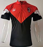 Мужская спортивная футболка поло, 2020 Милан красно-черная