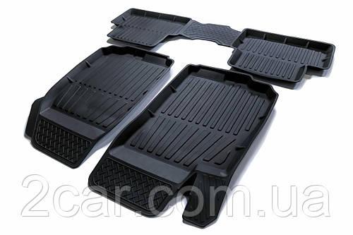 Коврики резиновые в салон для Chevrolet Aveo SD/HB (2012-2015) 3D PREMIUM