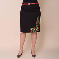 Женская юбка в украинском стиле больших размеров от производителя черного цвета. Размеры: 52, 54, 56, 58