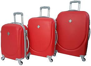 Набір валіз Bonro Smile 3 штуки бордовий (10050301)