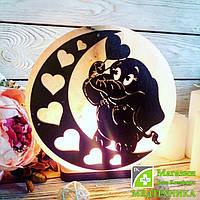 Солевая лампа «Слоник на Луне» 3-4 кг