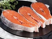 Стейк лосося (семги), с/м, вакуумная упаковка