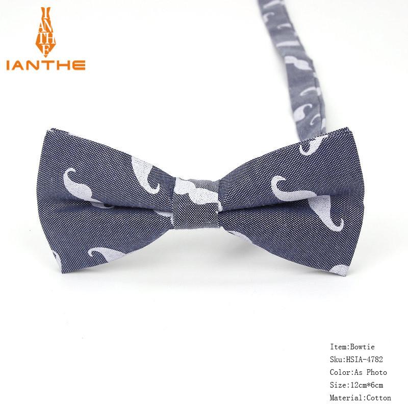 Мужской галстук-бабочка с принтом Усов