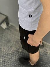 """Комплект Футболка """"Color Stripe"""" серая - хаки + Шорты Miami Черные Intruder, фото 3"""