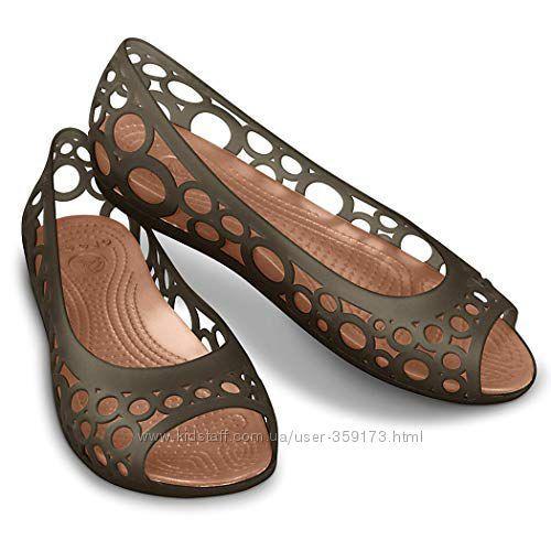 Балетки  Кроксы Crocs Adrina Flat ажурные Адрина  Оригинал   (25 см) США