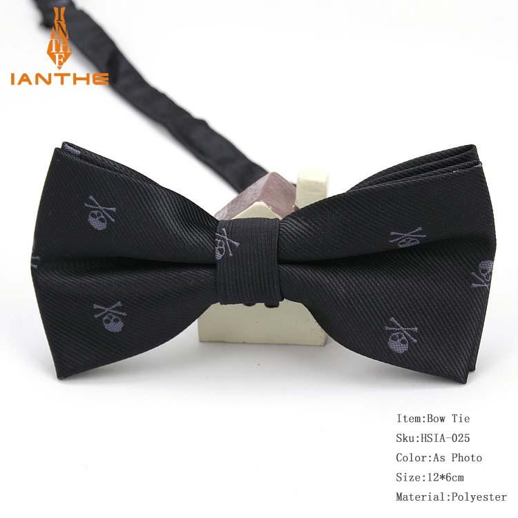 Чоловіча краватка-метелик з принтом Черепа