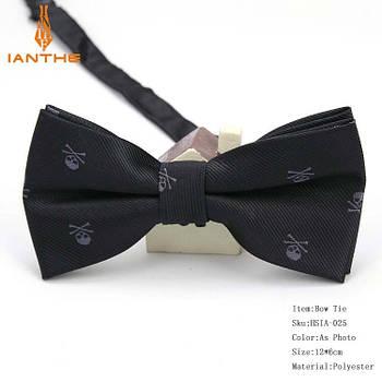 Мужской галстук-бабочка с принтом Черепа