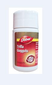 Трифала Гуггул Дабур/Triphala Guggulu Trifala Dabur/40 табл- средство для очистки кишечника крови печени лимфы
