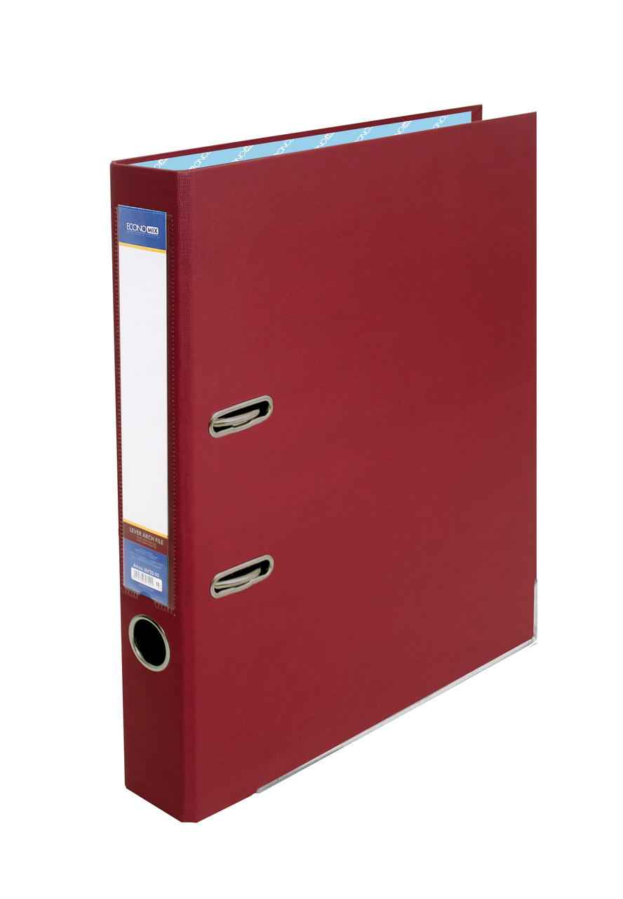 Папка-регистратор А4, Economix, 50 мм, бордо, E39720-18