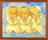 """Схема для вышивки на атласе ангелочки """"Почти идеальный"""""""