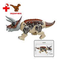 Динозавр Трицераптос Конструктор, аналог Лего