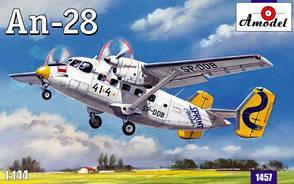 Антонов Ан-28. Сборная модель самолета в масштабе 1/144. AMODEL 1457