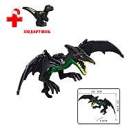 Динозавр Птеродактиль черный Конструктор, аналог Лего